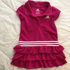 Adidas pink dress Size 18 months